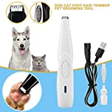 TTBD Dog Grooming Clipper, Profi Haustiere Haartrimmer USB Aufladbare Wireless-Design Low Noise...