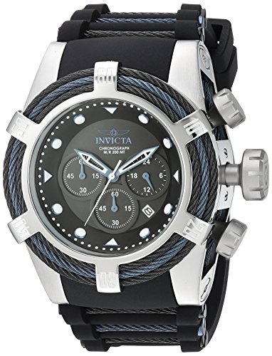Invicta Men's Bolt Stainless Steel Quartz Watch with Silicone Strap, Two Tone, 33 (Model: 23051)