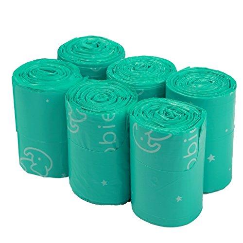 Goobie Baby Diaper Bag Dispenser Refill Rolls of Unscented Disposable Refill Bags   Waste Bag (6 Roll Bag Refill - 150 Bags)