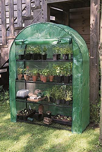Tome la cubierta protectora pesada de 4 capas Mini plástico PVC invernadero - Pequeñas habitaciones de flora/siembra para jardines y al aire libre,Green