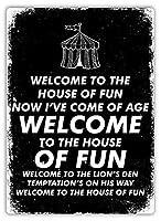 House Of Fun ティンサイン ポスター ン サイン プレート ブリキ看板 ホーム バーために
