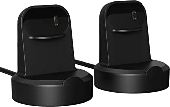 MoKo 2-Pack Charger Dock Compatible with Fitbit Inspire/Inspire HR, Portable Magnetic Replacement Charging Stand Adapter with USB Charging Cable Cord for Inspire/Inspire HR - Black