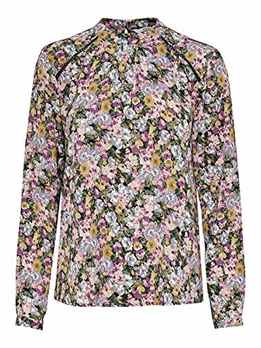 Only Onlnew Mallory L/S Blouse WVN Noos Camisa, Bálsamo Verde/AOP: Ellie Flower, 36 para Mujer