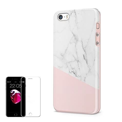 iPhone 5 5S SE Case Obbii Unique Baby Pink Marble Design Hybrid Slim Hard 23df4d8165ebf