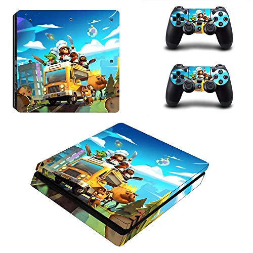 TSWEET Overcooked 2 PS4 Slim Skin Sticker Decal Vinyl for Dualshock Playstation 4 Console & Controller PS4 Slim Skins Sticker Vinyl
