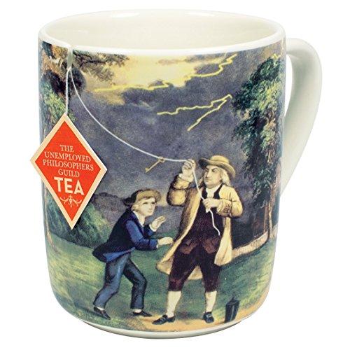 Benjamin Franklin Electrici-Tea Mug - Erstellen Sie Franklins berühmtes Experiment mit Ihrem Tee - in einer lustigen Geschenkbox