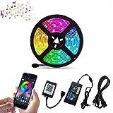 NOBRAND Nuevo Bluetooth 5050 Tira De Luz Led RGB SMD 2835 Cinta Flexible Fita RGB Luz Led 5M 10M 15M Diodo De Cinta Dc12V Control De Bluetooth