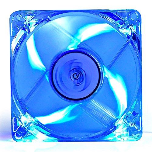 JUSTOP 120MM PC Case Koeling Ventilator Rustige 4x LED Lights Transparant Blades Met 3-Pin Moederbord / 4-Pin Molex Connectors / 4x Schroeven Inbegrepen