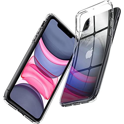 【Spigen】 iPhone 11 ケース 6.1インチ 対応 TPU 傷防止 レンズ保護 超薄型 超軽量 Qi充電 ワイヤレス充電...