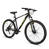 Hiland 27.5 Inch Mountain Bike 27-Speed MTB Bicycle for Man with 19.5 Inch Frame Lock-Out Suspension Fork Hydraulic Disc-Brake Urban Commuter City Bicycle Black