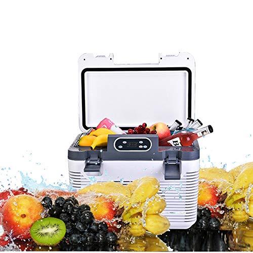 RSTJ-Sjef Caja Fría De 19 litros, Refrigerador Portátil con Función De Frío Y Calor, DC12V 24V / AC 220V-240V Nevera Eléctrica, Refrigerador De Viaje para Picnic Al Aire Libre