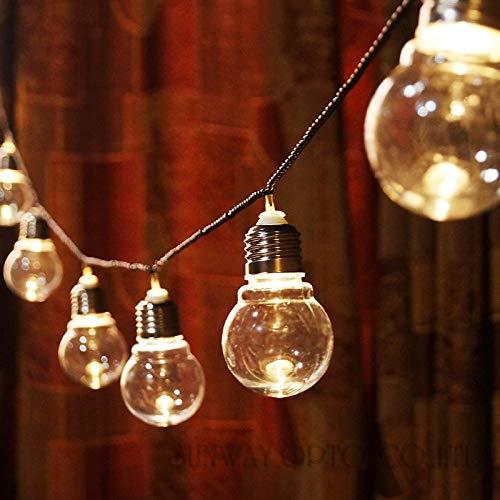 Xldiannaojyb 20 LED 6M Klar Globe Festoon-Party-Fee-Schnur-Licht-Weihnachtslicht-Ferien Garland Lichter String EU-AU US UK Plug (Style : 6M 20Bulbs)