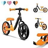 Lionelo Alex Bicicleta de equilibrio 39 x 88 x 50-58 cm Para menores hasta 30 kg Regulación del asiento y del volante Ruedas ligeras Reposapiés perfilado Naranja