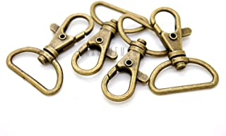 1 Inch CRAFTMEmore Gold Plated Swivel Trigger Snap Hooks Classic Lobster Clasps Purse Landyard Leather Craft WITH D RINGS 10 Sets