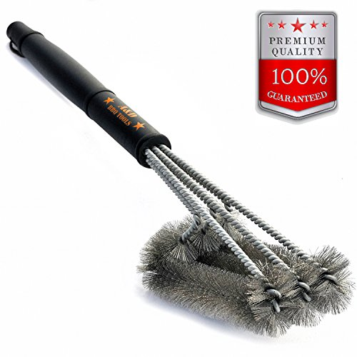 BBQ Grill Brush cleaner - kit 3 in 1 18' Best...