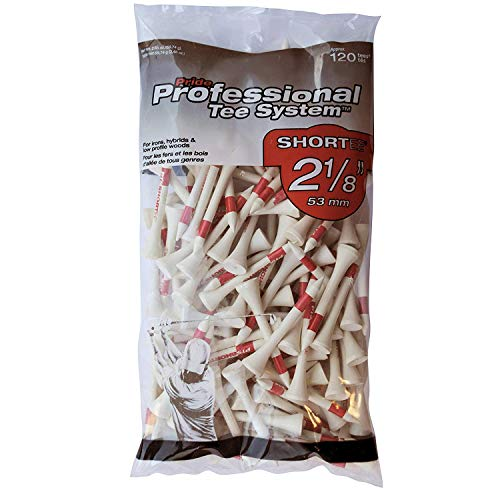 Unbekannt Unisex-Adult Pride PTS Wooden 2 1/8 Bag of 120 Tees, ROT, one Size