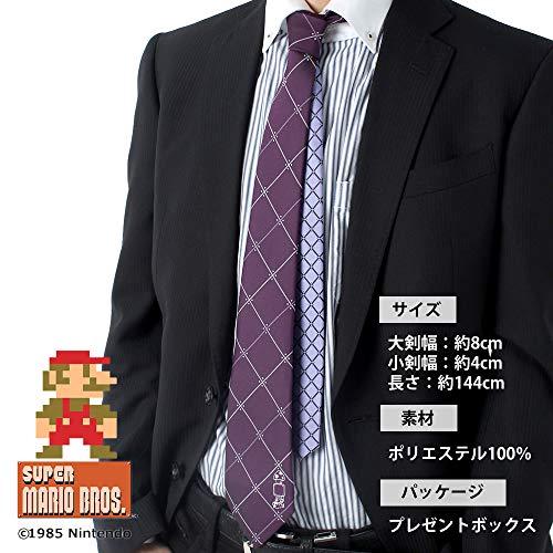[ドレスコード101]別注マリオキャラクターネクタイJUN-MARIOメンズ2-ブルー日本FREE(FREEサイズ)
