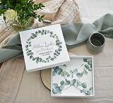 Geldgeschenk/Gutschein Verpackung zur Hochzeit PERSONALISIERT EUKALYPTUS LEAVES