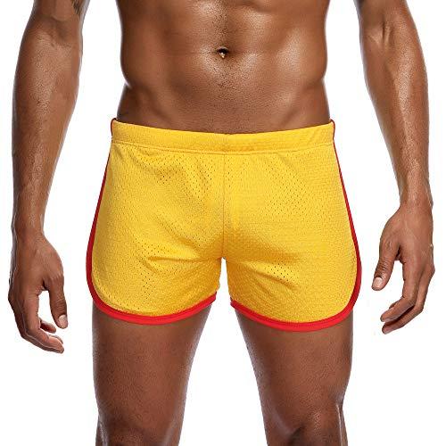 Homme Maillot de Bain, Short de Bain Homme Pant Court de Sport/Plage/Beach Bermudas Colore, Trunks Pantalon Boxers Slip avec Cordon Ajustable à l'intérieur et Poches