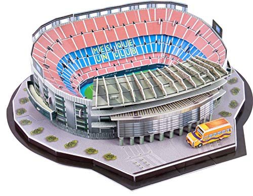 GHmarine Rompecabezas Tridimensional 3D Famoso mundialmente Campo de fútbol para niños Chicos DIY Hechizo Insertar Juguete (Estadio Camp NOU(España) 79piezas)