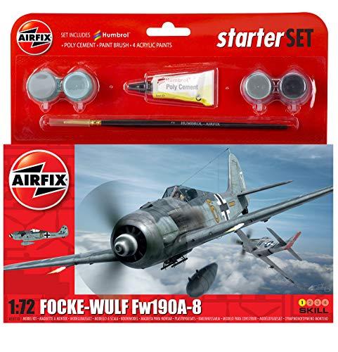 Airfix A55110 1/72 Small Starter Set, Focke Wulf 190A-8 Modellbausatz
