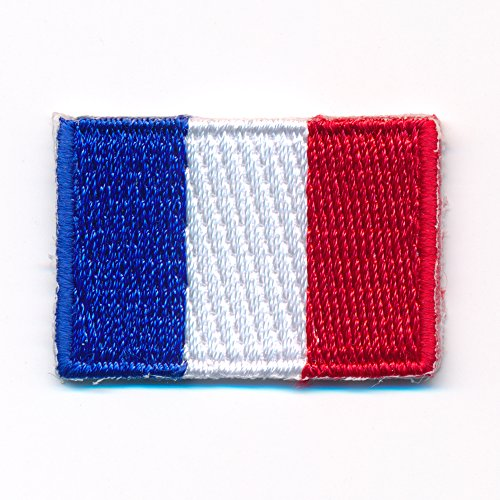 30 x 20 mm Frankreich Flagge Paris France Flag Lyon Aufnäher Aufbügler 0910 Mini