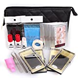 15 IN 1 Full Individual Eyelash Extensions C Curl Eyelahes Lashes Strip Graft Glue Lint-Free Under Patch Pad Tweezers Cleansing Lotion Tools Case Bag Set