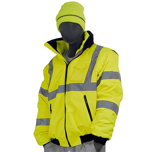 Majestic Glove 75-1381/X1 Bomber Jacket, 8 in 1, High-Vis, Class 3, X-Large, Yellow