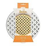 Decora 0215800 Griglia Tagliapasta per Crostate Arabesque, Bianco, 30 x 30 x 3 cm