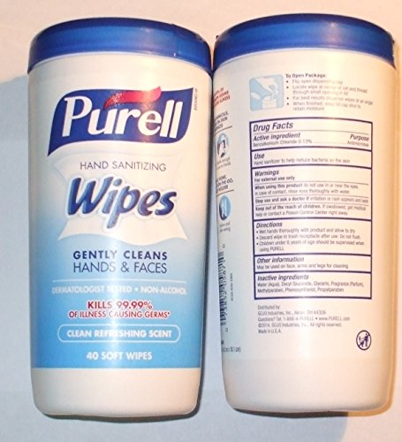 Purell Wipes Clean Scent Size 40ct Purell Wipes Clean Scent Canister 40ct