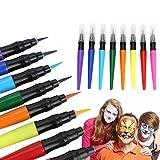 LáPices de Maquillaje de 8 Colores, Pincel De Pintura Corporal, FáCil de Lavar LáPices De Colores Set de Maquillaje para NiñOs, Fiestas TemáTicas de Cosplay para Fiestas Navidad Hallowe