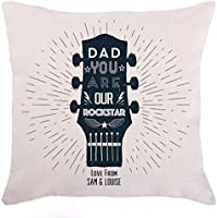 Personalised Rockstar Dad Guitar Cushion For The Home