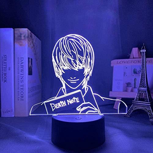 HMWL Anime LED Night Light Carácter Anime Decor16 Colores Mejor cumpleaños RemoteRegalos de Yagami Figura Luz Anime Regalo De Muerte Lámpara de Nota