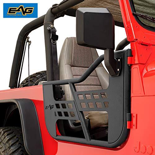 EAG Safari Tubular Door with Side View Mirror Fit for 76-95 Wrangler CJ7 / YJ