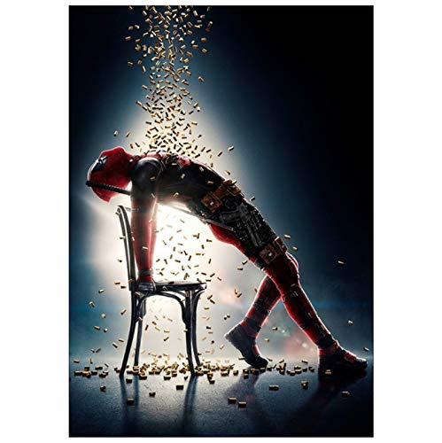 Marvel Super Hero Deadpool 2 Poster Und Drucke Kunst Leinwand Malerei Wandbilder Poster Für Wohnzimmer Home Decor 50X70Cm No Frame