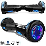 Magic Vida Skateboard Elettrico 6.5 Pollici Bluetooth Power 700W con Due Barre LED...