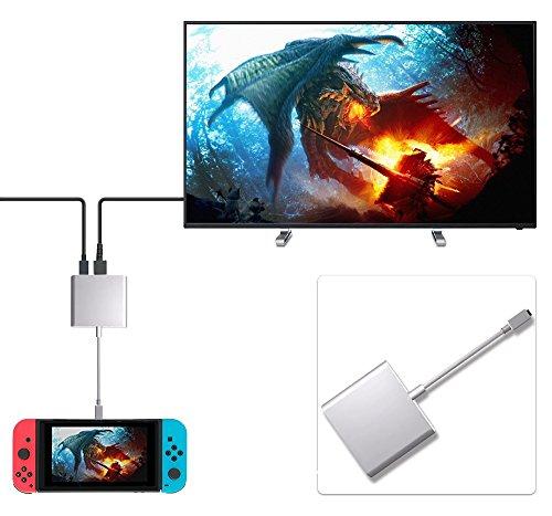 Aakir Adaptador HDMI USB tipo C a 1080P para Nintendo Switch, puerto...