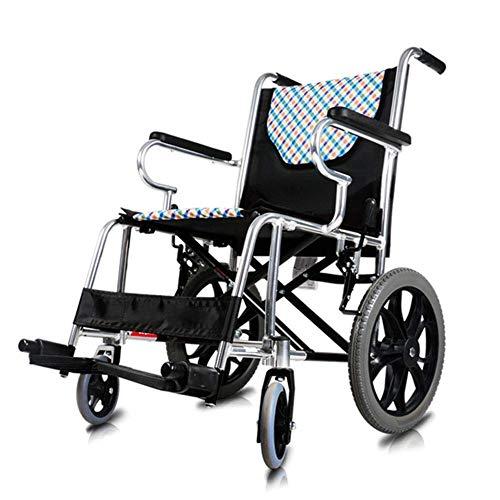 N/Z Living Equipment Medical Rehab Chair Rollstuhl Aluminiumlegierung Klappbare tragbare leichte Reise behinderte Hand Push tragbarer Rollstuhl Älterer Rollstuhl