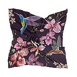 Ahomy Flor colibríes clásico de seda para mujer, bufanda cuadrada con sensación de cabeza, pañuelo de 60 cm x 60 cm