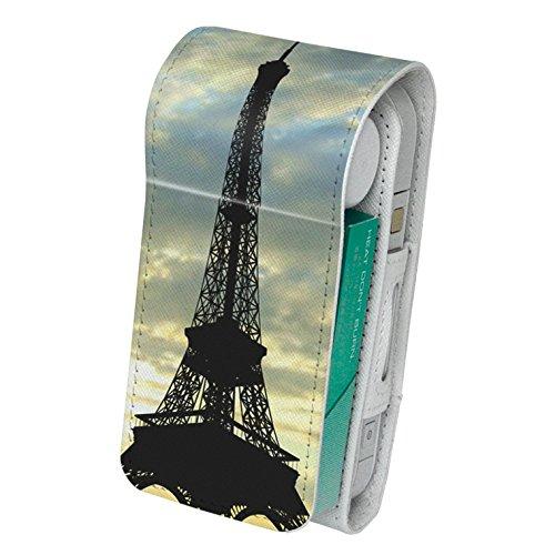 スマコレ IQOS専用 レザーケース 【従来型/新型 2.4PLUS 両対応】 専用 ケース カバー 合皮 カバー 収納 写真 タワー 景色 010518