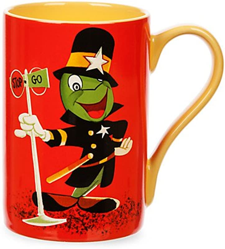 Disney Store Jiminy Cricket Record Cover Mug Coffee Cup 16 Oz