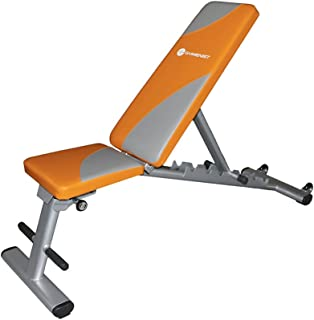GYMENIST Exercise Bench Foldable Can Be Used 7 Different Angles Positions, Can Be Folded Flat for Storage NO Assembly Needed