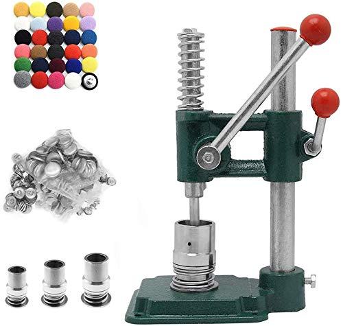 S SMAUTOP Máquina de Fabricación de Botones de Cubierta de Tela Hecha a Mano Herramienta de Bricolaje Insignia que Hace la Máquina con 3 Moldes (Φ18 / 25 / 30mm) Botones de 300 Piezas