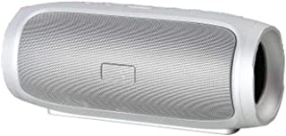 Charge 4 Portable Wireless Bluetooth Speaker With Powerful Bass - Silver