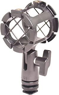 Bestshoot Microphone Shock Mount Universal Holder Clip + Hot Shoe Adapter for Condenser Shotgun Mic AKG D230, Senheisser ME66, Rode NTG-2,NTG-1,Audio-Technica AT-875R Neewer NW-81(1Pack)