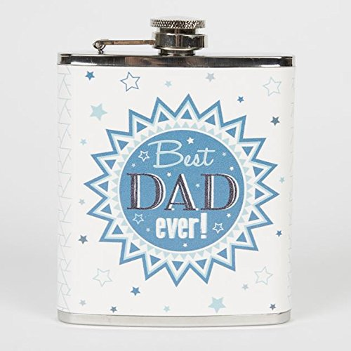 RJB Stone Best Dad Ever Hip Flask
