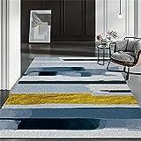 Alfombra baño Antideslizante Alfombras Amarillas y Azules, sin Fans Antiamricción Easy Vacuum Crawling Pad Alfombra alfombras Grandes Baratas Infantiles -Amarillo_80x160cm