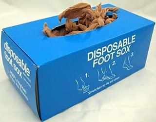 Disposable Foot Socks, DISPOSABLE FOOT SOX, Tan- One Gross, 144 pcs