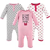 Hudson Baby Unisex Baby Cotton Coveralls, So Many Bows, 9-12 Months