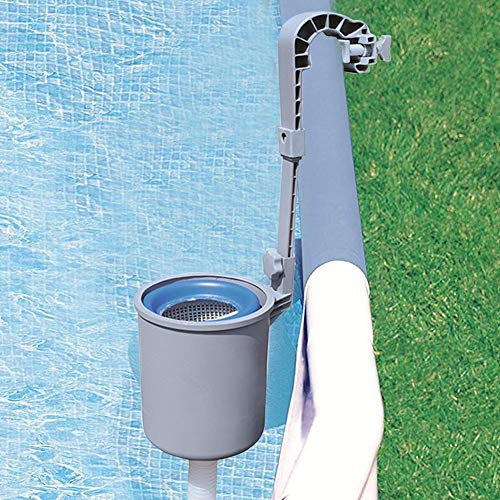 FunctionaLoc Pool Surface Skimmer for Above Ground Pool ,Wall Mount Swimming Pool Surface Skimmer, Automatic Skimmer for Pool Daily Care,25x25x32cm